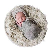 Accesorios para foto Sunmig Newborn Baby Stretch Wrap Photo Wrap-Baby (Gris claro)