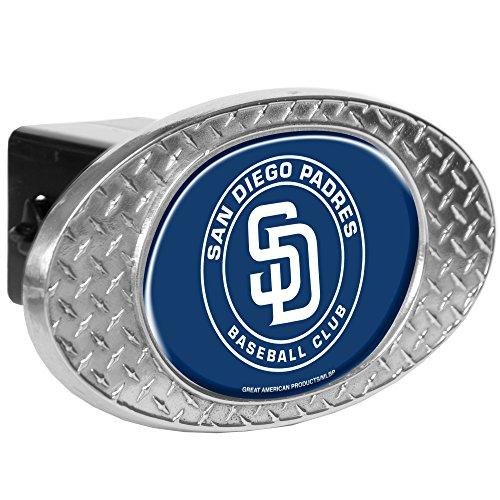 MLB San Diego Padres Metal Diamond Plate Trailer Hitch Cover