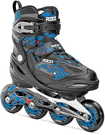 Roces 450654 Men's Model Moody Ice Skate, US 4-7, Black/Astro Blue/Red