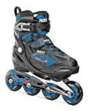 Roces 450654 Men's Model Moody Ice Skate, US 4-7, Black/Astro Blue/Red