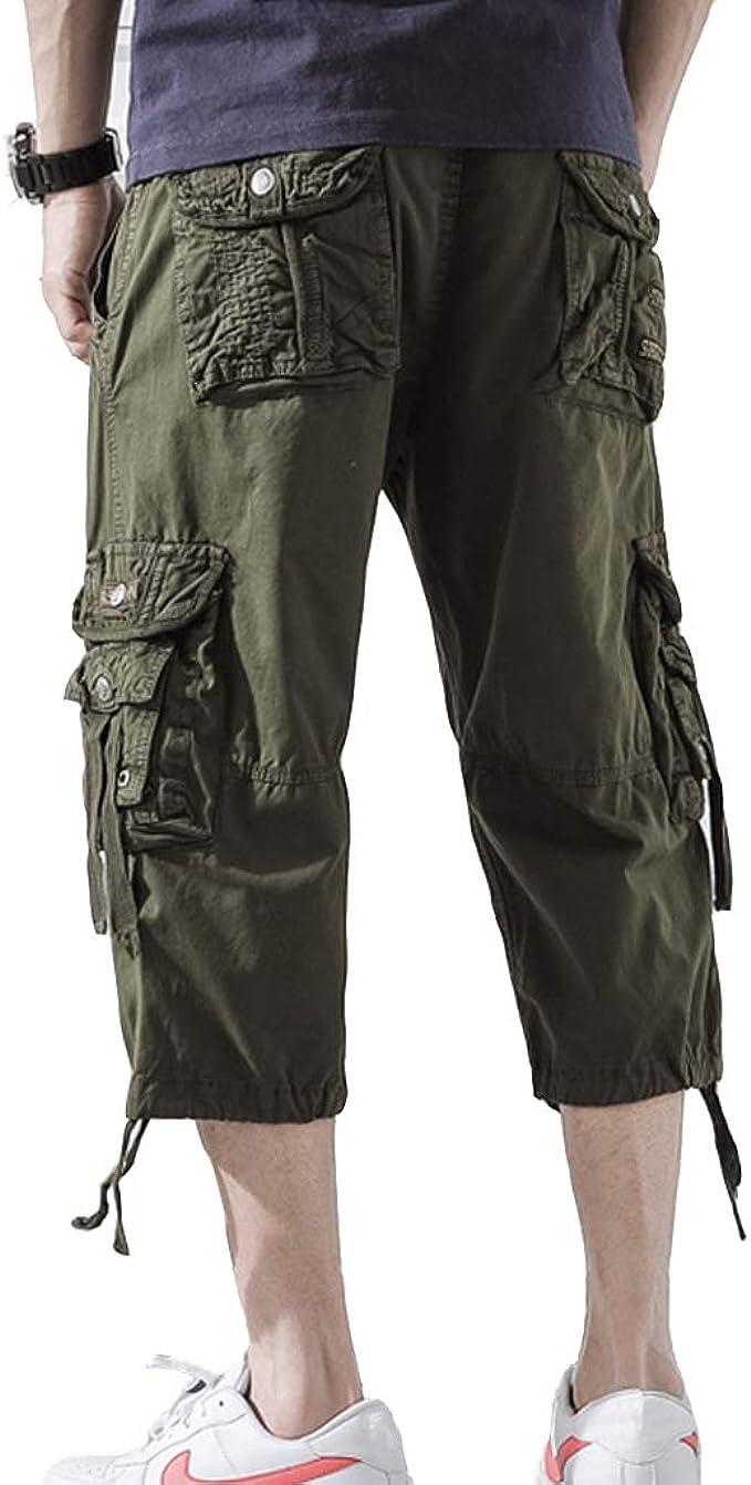 Pretty Green Shorts Multi Pocket Dyed Cargos Blue