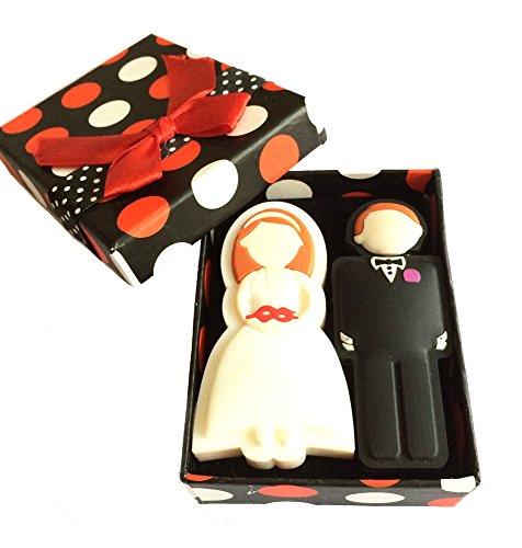 FEBNISCTE Wedding Gifts USB Flash Drive 8GB - a Groom & a Bride (Cartoon Character Couples)