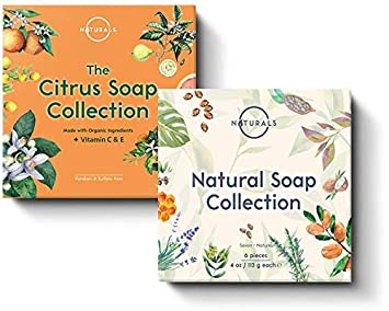 O Naturals Deluxe Variety 2 Pack, 12 Unique Different Bars of Soap. Best Holiday Gift Set for Women Men. Premium Skin Care Spa Bath Body Gift Set Kit. Vegan Soap with Organic Ingredients. 4oz Each