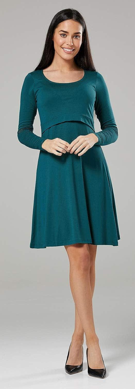 Zeta Ville - Stillen A-Linie Kleid Schwangere Rundhalsausschnitt - - - Damen - 128c B07NC9TPKZ Freizeit Stilvolle und attraktive Tasche 01196a