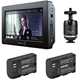 "Blackmagic Design Video Assist HDMI/6G-SDI Recorder with 5"" Monitor & Watson LP-E6N Lithium-Ion Battery Pack of (2) Plus Vello Multi-Function Ball"