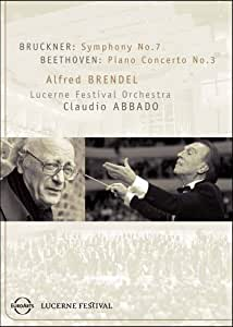 Brucker: Symphony No. 7/Beethoven: Piano Concerto No. 3 - Brendel/Lucerne Festival Orchestra/Abbado [Import]