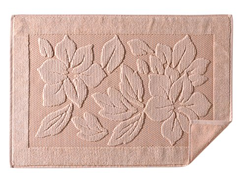 oor Mats - Washable Bathtub Shower Sink Floor Towels - 100% Turkish Cotton Bath Mat Foot Towels - Cream, Light Pink, Lighte Brown (1, Light Brown) ()
