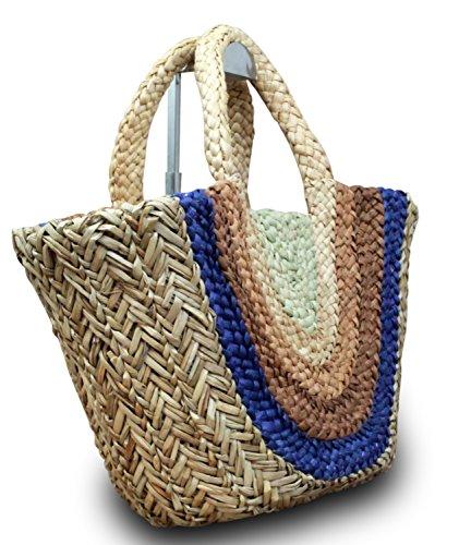 cesta cesta playa Corazón ibizatasche nbsp;nbsp;Estrella Shopper Bolsa XL marrón playa paja Ibiza de UExA1Cwq8