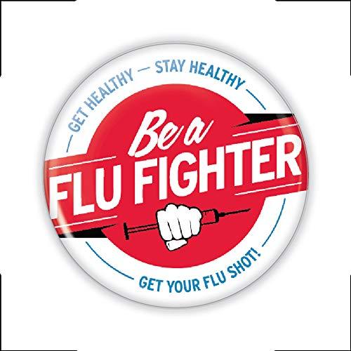 Be a Flu Fighter Flu Shot Buttons- Pack of 50