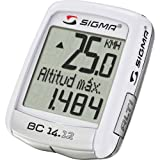 Cheap Sigmasport wired cycling computer BC 14.12 ALTI Bike computer with heart monitor white