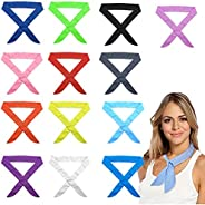 ZSQSM 13 Pcs Cooling Scarf Wrap Summer Cool Ice Towel Cold Feeling Scarf Neck Wrap Headband Ice Scarf Collar N