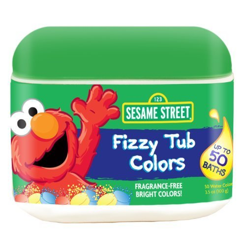 Sesame Street Fizzy Tub Colors 50 Count (50 Ct Tub)
