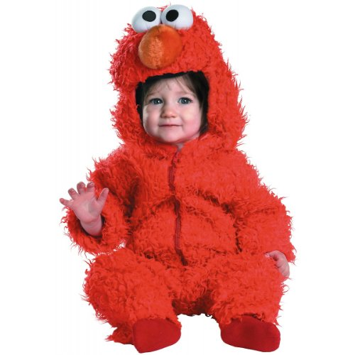 Elmo Infant Plush Halloween Costume, Red, 12-18 Months