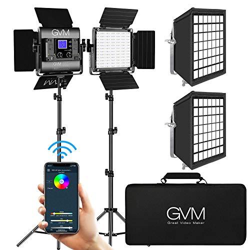 GVM RGB 800D Led Video Light with 2 Softbox
