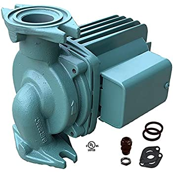 Taco 0011-F4, Circulator Pump, Cast Iron, 1/8 HP Pump with Universal Pump Gaskets and Wire Gland