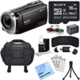 Sony HDR-CX455/B Full HD Handycam Camcorder Bundle includes HDR-CX455/B Handycam, Deluxe Filter Kit, Battery, 16GB microSD Memory Card, Bag, Card Reader, Mini Tripod, Beach Camera Cloth and More!