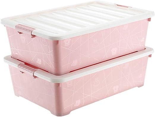 Caja de almacenamiento De Ruedas Tapas De Plástico Armario Plano ...