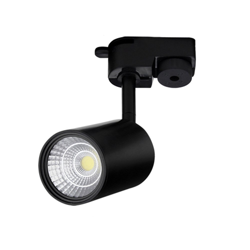 MGSD Spotlights, Led Track Lights, Nordic Home Small Spotlights, Suitable For Living Room Background Wall Cloakroom Full Set Of Rail Mounted 1/2/3/4 Lights Black A+ (Color : 1lamp 7w)