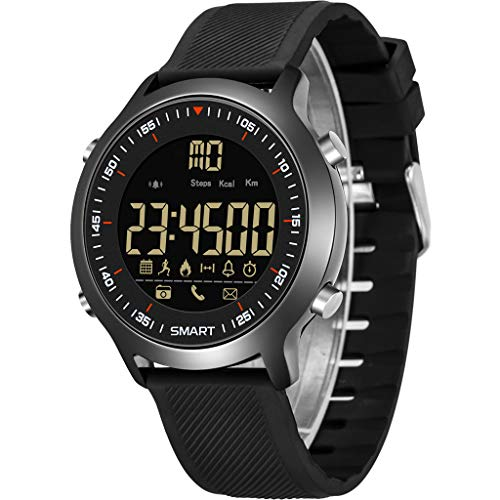 - AutumnFall Multi-Functions Men Sport Watch Digital Chronograph LED Screen Large 50M Waterproof Casual Smart Watch (Black)