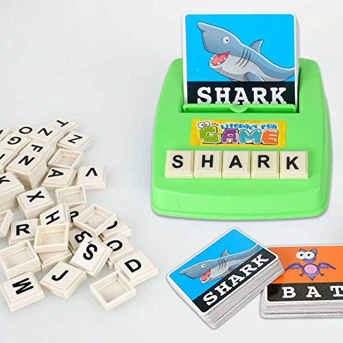 BLACK-PEARL Baby Flash Cards Children Learning English Word Puzzle Spelling Game Picture Flash Card Early Educational Toys for Baby Kids Gift @zjf by SARIN EASH