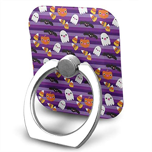 Square Cell Phone Finger Ring Holder,Halloween Cat and Ghost Wallpaper Car Kickstand,Universal Smartphone Dock ()