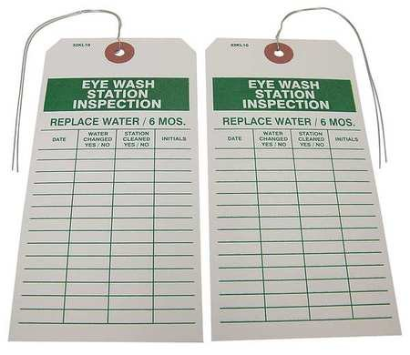 Eye Wash Station Inspection Tag, PK25
