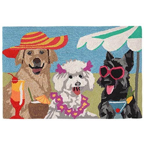 Liora Manne FT123A76344 Folly Saucy Pups Rug, Indoor/Outdoor, ()