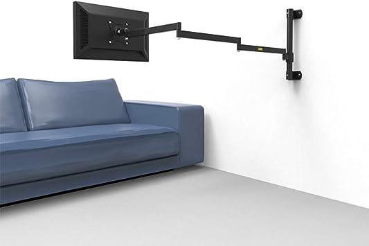ALXDR Soporte De Pared Superior para Monitor De Pared Y Soporte para Brazo De TV, Brazo Neumático Largo Súper Largo para Monitor De Computadora De 19