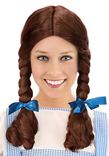 Fun Deluxe Kansas Girl Costume Wig Pig Tail Bows Standard]()