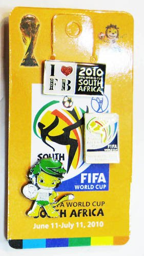 2010 World Cup FIFA Soccer South Africa Pin 3pcs/set ()