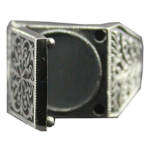 Sterling silver men ring, hidden poison box, steel pen crafts, Express Shipping