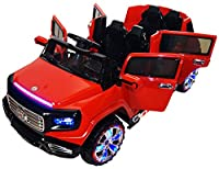 Two-Seater 4-Door Premium Ride On Electric Toy Car For Kids - 12V Battery Powered - LED Lights - MP3 - RC Parental Remote Controller - Suitable For Boys & Girls - Real Paint - Red