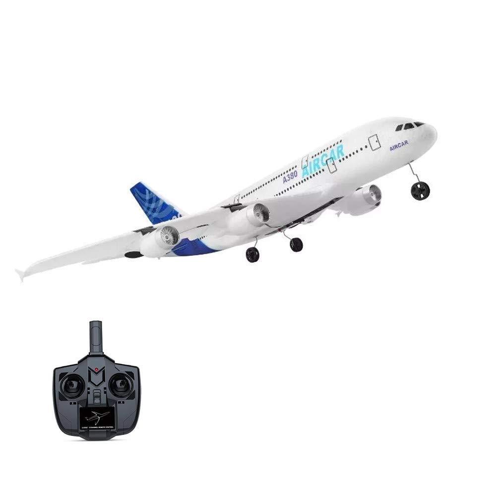 Mopoq RC航空機 - 子供と大人の20.079のために飛行する2.4 GHzの3チャンネルRC飛行機の準備、翼幅6軸ジャイロRC飛行機、初心者の安定した飛行RC飛行機