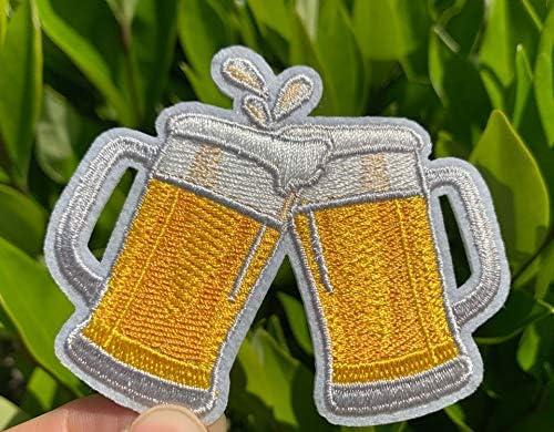 [해외]Beer Iron On Patch Cheers Badge Patch Beer Patch Embroidery Iron on Patch Beer DIY Accessaries Cool Applique / Beer Iron On Patch Cheers Badge Patch Beer Patch Embroidery Iron on Patch Beer DIY Accessaries Cool Applique