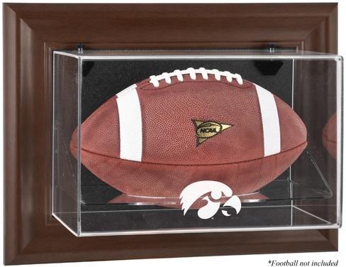 Iowa Hawkeyes Brown Framed Wall Mountable Football Display Case (Iowa Football Hawkeyes Brown)