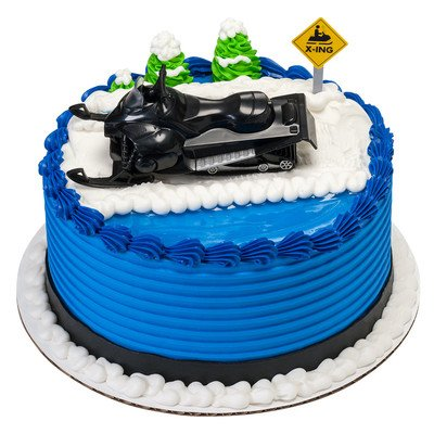 Price comparison product image Snowmobile Cake Topper Decorating Set