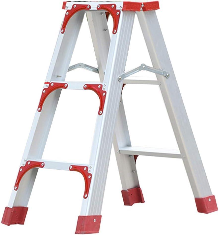 Klappstufen Schritt Hocker Verst/ärkte Cosco Tritthocker DREI-Schritt-Stufenleiter Faltbare Tritthocker Ladekapazit/ät Von Bis Zu 170kg Color : Red, Size : 37 * 72 * 72cm