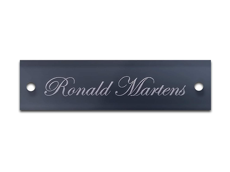 Tü rschild Namensschild mit Gravur Briefkastenschild selbstklebend Schild(12x4cm) CHRISCK design