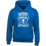 Spend Most Of My Money On Wrestling The Rest Is Wasted - Adult Hoodie L Royal