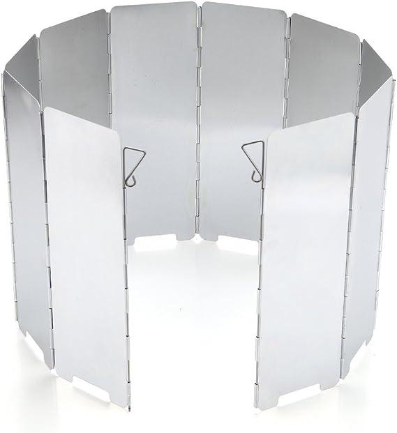 JAMSWALL Parabrisas Aluminio Plegable aleación de Aluminio con 10 ...