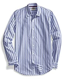 Men's Standard-Fit Long-Sleeve Two-Color Stripe Shirt