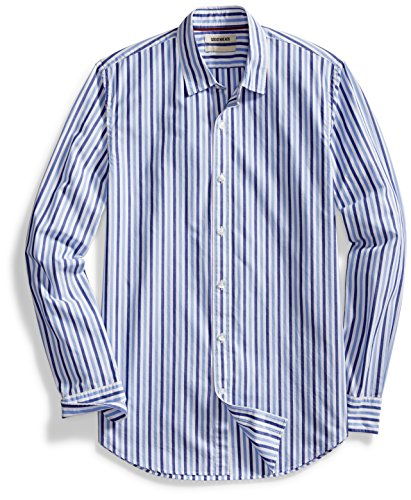 Goodthreads+Men%27s+Standard-Fit+Long-Sleeve+Two-Color+Stripe+Shirt%2C+Navy%2FLight+Blue%2C+Large