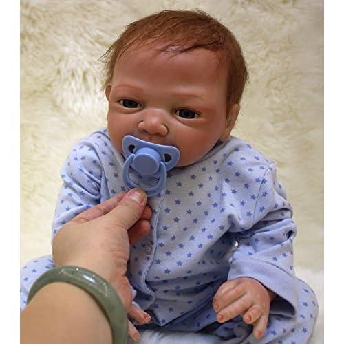 NPK 52 cm Silicona Reborn Baby Doll 20inch Boca Magnética Hermosa Realista Lindo Niño Bébé Renacido Bebé Muñeca