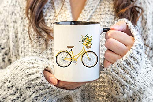 Vintage Mugs | Coffee Ware | Coffee Bar | Farmhouse Decor | Kitchen and Dining | Shabby Chic Decor | Cottage Living | Decor Mug | Bicycle