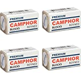 Sanar Naturals Premium Camphor Blocks, 4 Tablets (4 Pack) - Refined Alcanfor, No Residue, Bed Bug Insect Repellant, Prevent Tool Tarnish Rust