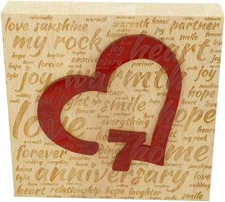 Anniversario Matrimonio 7 Anni.Blocco In Legno Di Faggio Per 7 Anniversario Di Matrimonio Con