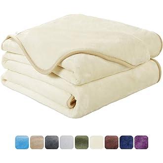 #15 EASELAND Soft Twin Size Summer Blanket All Season Warm Fuzzy Microplush Lightweight Thermal Fleece Blankets for
