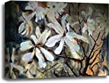 Watercolor Painting Of The Beautiful Flowers. Gallery Wrapped Canvas Art (16in. x 20in.)