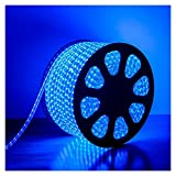 JSG Accessories 220v – 240v / Mains Voltage LED Strip Lights / Rope Lights, Blue Colour, 1 - 50 Metres in Length, 60 Super-Bright SMD LEDs per metre , Fully Waterproof, Comes Complete with UK Plug High quality LED Tape (Ideal for Kitchen Lighting, Decking Lights, Bathrooms, Plinth Lights, Garden Lighting, Etc) (3 Metre long)
