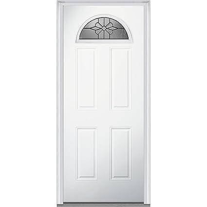 National Door Company Za21370l 14 Lite 4 Panel Dahlia Decorative